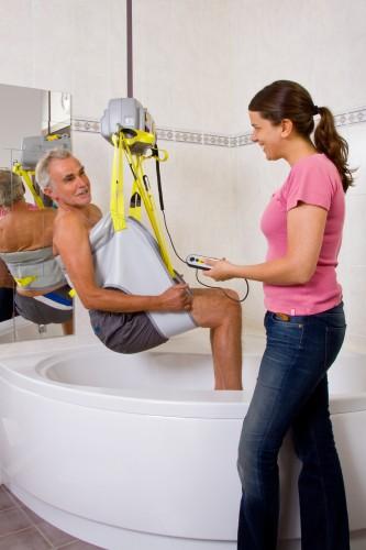 Handi-Move  - Portable motor , Bathing sling